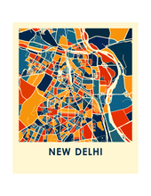 New Delhi Map Print - Full Color Map Poster