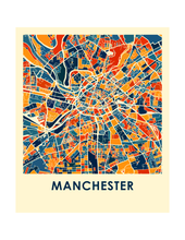 Manchester Map Print - Full Color Map Poster