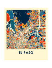 El Paso Map Print - Full Color Map Poster