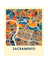 Sacramento Map Print - Full Color Map Poster