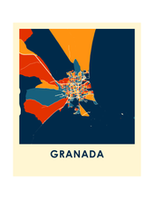 Granada Map Print - Full Color Map Poster