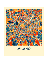 Milan Map Print - Full Color Map Poster