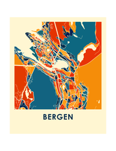 Bergen Map Print - Full Color Map Poster