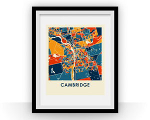 Cambridge Ontario Map Print - Full Color Map Poster