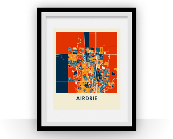 Airdrie Alberta Map Print - Full Color Map Poster