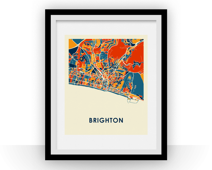 Brighton Map Print - Full Color Map Poster
