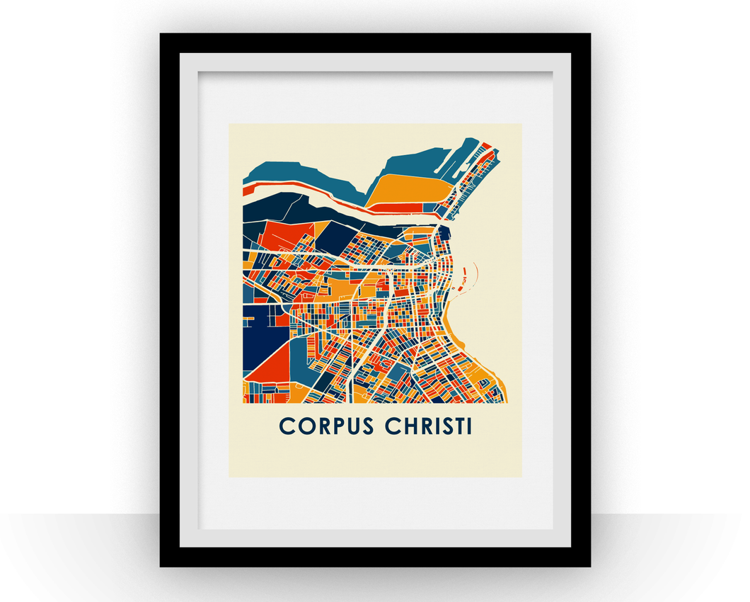 Corpus Christi Map Print - Full Color Map Poster