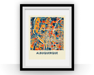 Albuquerque Map Print - Full Color Map Poster