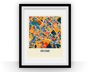 Irvine Map Print - Full Color Map Poster