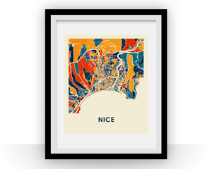 Nice Map Print - Full Color Map Poster