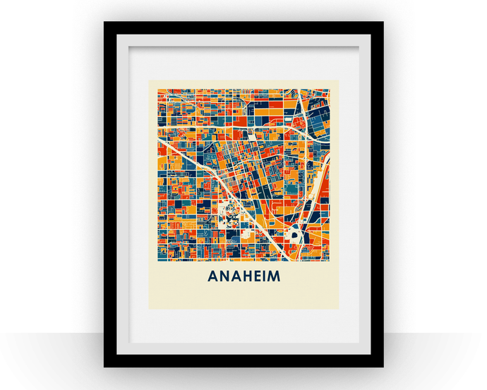 Anaheim Map Print - Full Color Map Poster
