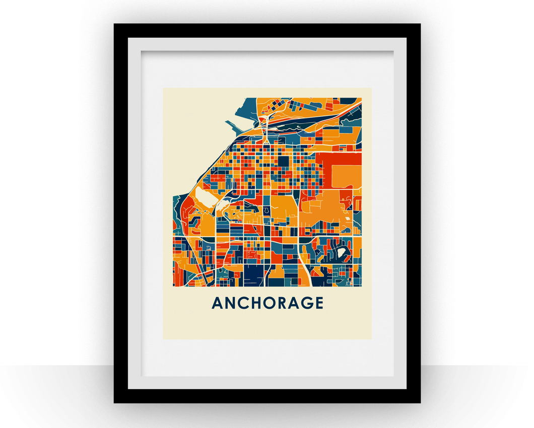 Anchorage Map Print - Full Color Map Poster