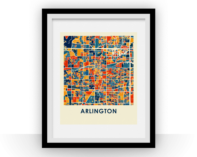 Arlington Map Print - Full Color Map Poster