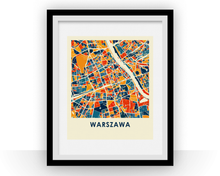 Warsaw Map Print - Full Color Map Poster
