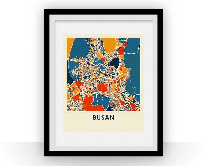 Busan Map Print - Full Color Map Poster