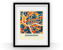 Guangzhou Map Print - Full Color Map Poster