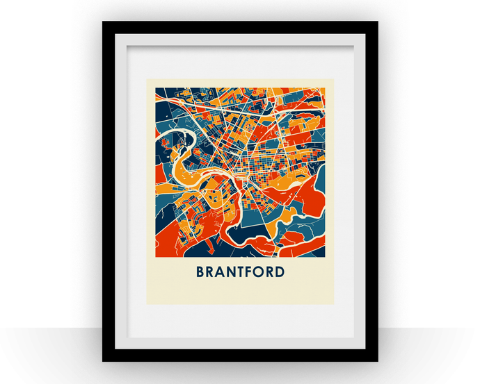 Brantford Ontario Map Print - Full Color Map Poster