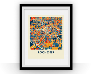 Rochester Map Print - Full Color Map Poster