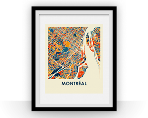 Montreal Map Print - Full Color Map Poster