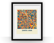 Santa Ana Map Print - Full Color Map Poster