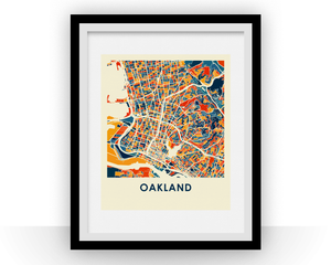 Oakland Map Print - Full Color Map Poster