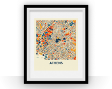 Athens Map Print - Full Color Map Poster