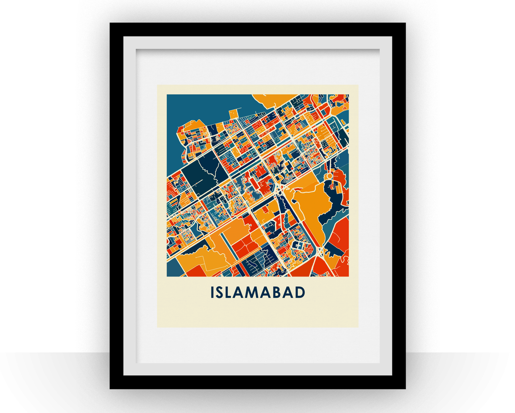 Islamabad Map Print - Full Color Map Poster