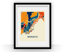 Monaco Map Print - Full Color Map Poster