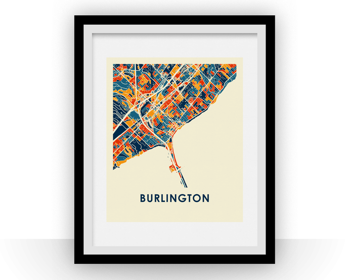 Burlington ON Map Print - Full Color Map Poster