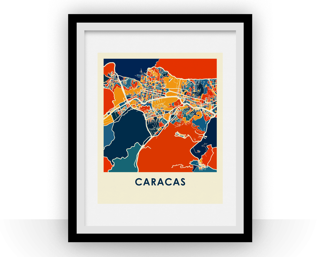 Caracas Map Print - Full Color Map Poster