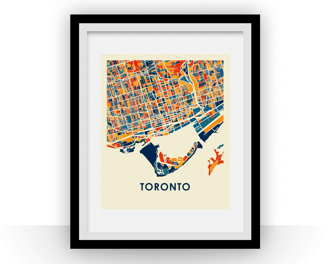 Toronto Map Print - Full Color Map Poster