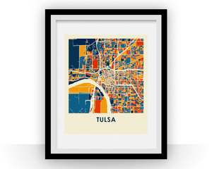 Tulsa Map Print - Full Color Map Poster