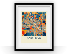 South Bend Map Print - Full Color Map Poster