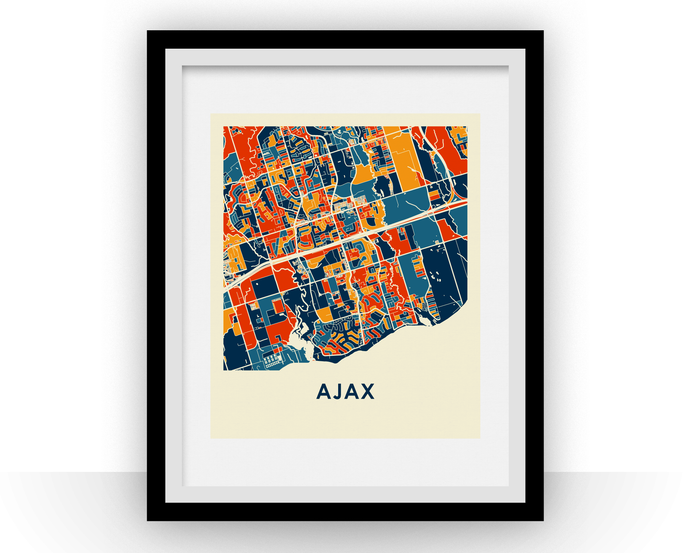 Ajax Ontario Map Print - Full Color Map Poster