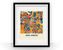 Ann Arbor Map Print - Full Color Map Poster