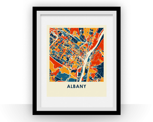 Albany Map Print - Full Color Map Poster