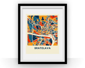 Bratislava Map Print - Full Color Map Poster
