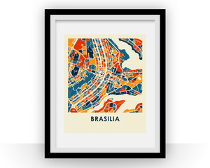 Brasilia Map Print - Full Color Map Poster
