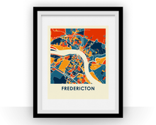 Fredericton Map Print - Full Color Map Poster