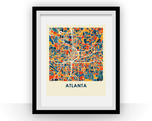 Atlanta Map Print - Full Color Map Poster