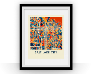 Salt Lake City Map Print - Full Color Map Poster