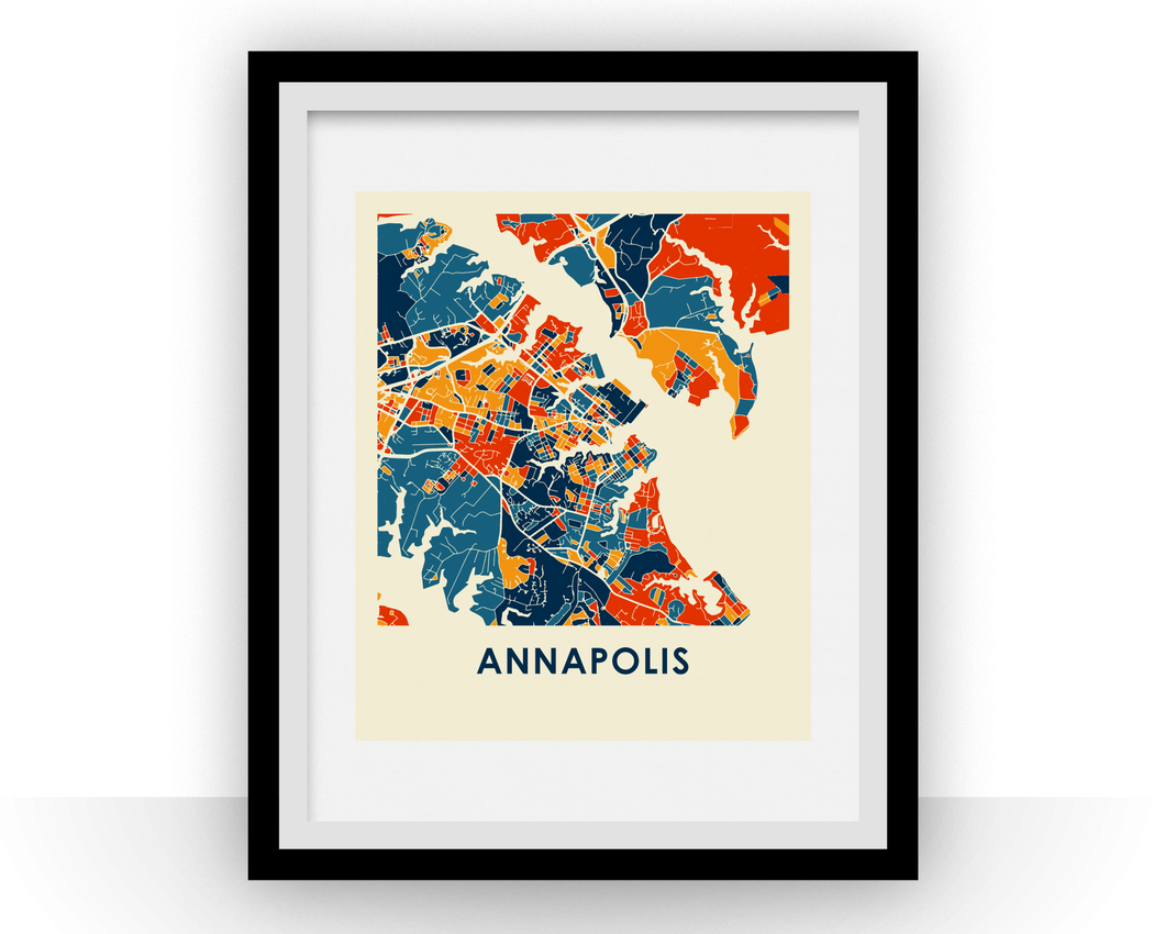 Annapolis Map Print - Full Color Map Poster