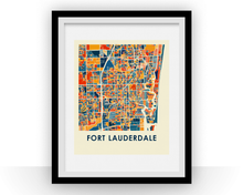 Fort Lauderdale Map Print - Full Color Map Poster