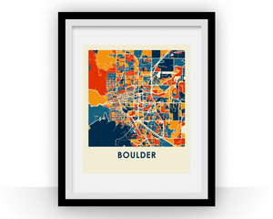 Boulder Map Print - Full Color Map Poster