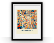 Indianapolis Map Print - Full Color Map Poster