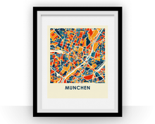 Munich Map Print - Full Color Map Poster