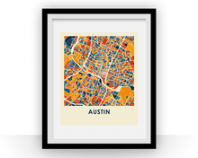 Austin Map Print - Full Color Map Poster