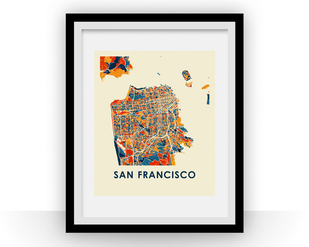 San Francisco Map Print - Full Color Map Poster