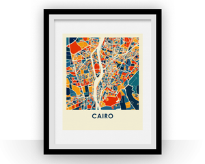 Cairo Map Print - Full Color Map Poster