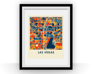 Las Vegas Map Print - Full Color Map Poster